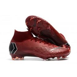 Nike Buty Piłkarskie Mercurial Superfly 6 Elite FG - Karmazynowy Czarny