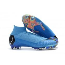 Nike Buty Piłkarskie Mercurial Superfly 6 Elite FG - Niebiesk Czarny