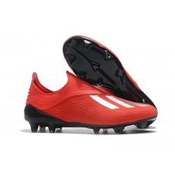 adidas X 18+ FG Buty Piłkarskie - Czerwony Srebro