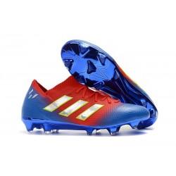 adidas Nemeziz Messi 18.1 FG Korki Pilkarskie - Czerwony Niebiesk Srebro