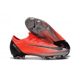 Nike Mercurial Vapor 12 Elite FG ACC Korki Pilkarskie - Ronaldo Czarny Czerwony Srebro