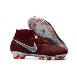 Nike Phantom VSN Elite Dynamic Fit FG Korki Pilkarskie - Czerwony Srebro