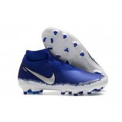 Nike Phantom VSN Elite Dynamic Fit FG Korki Pilkarskie - Niebieski Srebro