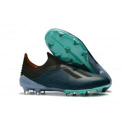 adidas X 18+ FG Buty Piłkarskie - Niebieski Czarny
