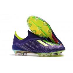 adidas X 18+ FG Buty Piłkarskie - Fioletowy Zielony