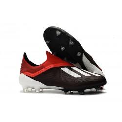 adidas X 18+ FG Buty Piłkarskie - Czarny Biały Czerwony
