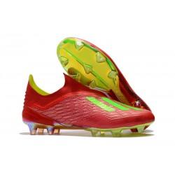 adidas X 18+ FG Buty Piłkarskie - Czerwony Zielony