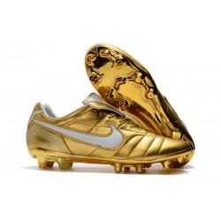 Nike Nowe Buty Tiempo Legend VII R10 FG ACC - Złoty Biały