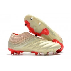 adidas Buty Piłkarskie Copa 19+ FG - Biały Czerwony