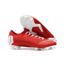 Buty Piłkarskie Nike Mercurial Vapor XII Elite FG - Czerwony Biały