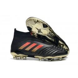 Adidas Buty Korki Predator 18+ FG - Czarny Czerwony