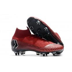 Buty Nike Mercurial Superfly VI Elite SG-Pro AC Czerwony Czarny