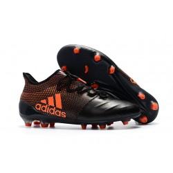Buty adidas X 17.1 FG Meskie - Czarny Pomarańczowy