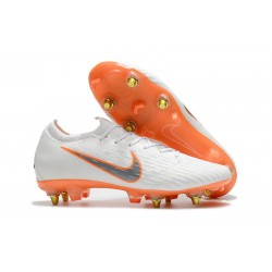 Nike Mercurial Vapor 12 Elite SG-PRO Anti Clog Biały Pomarańczowy