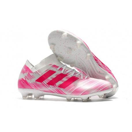 100% wysokiej jakości wykwintny styl unikalny design adidas Nemeziz Messi 18.1 FG Korki Pilkarskie - Różowy Biały