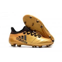 Buty adidas X 17.1 FG Meskie - Złoty Czarny