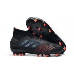 Buty piłkarskie adidas Predator 19.1 FG - Czarny Czerwony