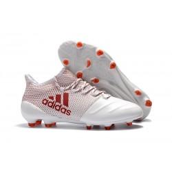 Buty adidas X 17.1 FG Meskie - Biały Czerwony