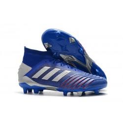 Buty piłkarskie adidas Predator 19.1 FG - Niebieski Srebro