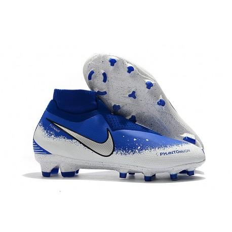 Nike Buty Piłkarskie Phantom Vision DF FG - Niebieski Biały