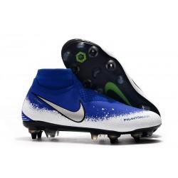 Buty Piłkarskie Nike Phantom VSN Elite DF SG-Pro AC Niebieski Biały Srebro