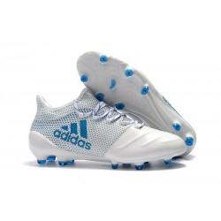 Buty adidas X 17.1 FG Meskie - Biały Niebieski