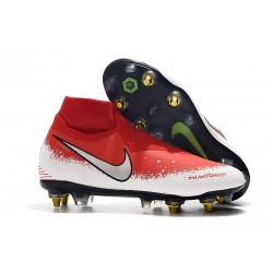 Buty Piłkarskie Nike Phantom VSN Elite DF SG-Pro AC Czerwony Biały Srebro
