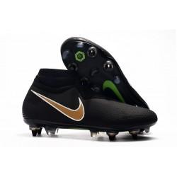 Buty Piłkarskie Nike Phantom VSN Elite DF SG-Pro AC Czarny Złoto