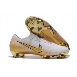 Buty Piłkarskie Nike Mercurial Vapor XII Elite FG - Biały Złoto