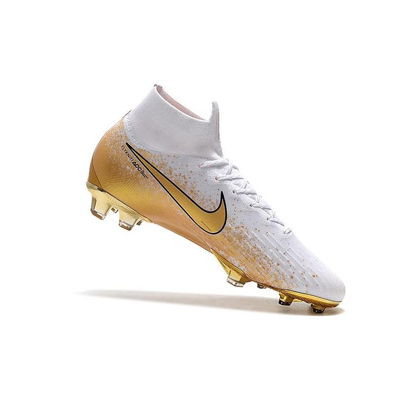 Buty Piłkarskie Nike Mercurial Superfly 6 Elite FG Biały Złoto