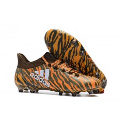 Korki Piłkarskie adidas X 17.1 FG - Pomarańczowy Brązowy