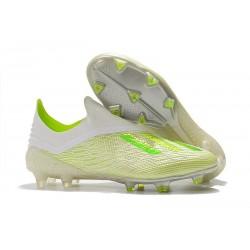 adidas X 18+ FG Buty Piłkarskie - Biały Zielony