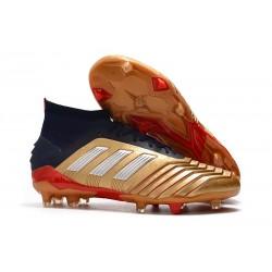 Buty piłkarskie adidas Predator 19.1 FG - Złoto Czerwony Srebro