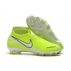 Nike Buty Piłkarskie Phantom Vision DF FG - Fluorescencyjny Żółty Biały