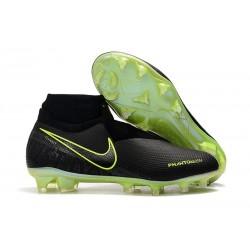 Nike Buty Piłkarskie Phantom Vision DF FG - Czarny Fluorescencyjny Żółty