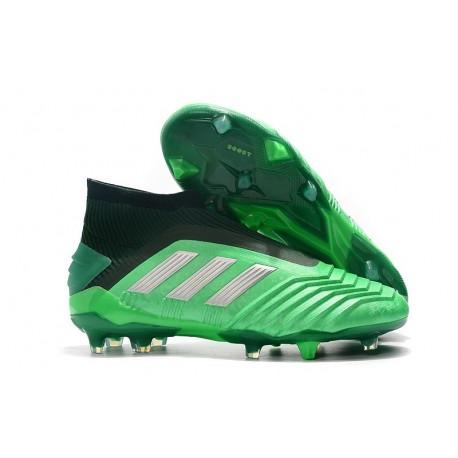 adidas Predator 19+ FG Buty Piłkarskie - Zielony Srebro