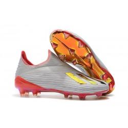 Buty Piłkarskie adidas X 19+ FG Redirect Pack Srebro Czerwony