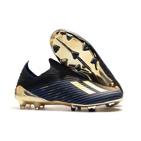 Buty Piłkarskie adidas X 19+ FG Inner Game Czarny Niebieski Złoty