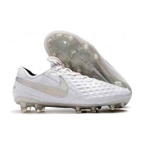 Buty Piłkarskie Nike Tiempo Legend VIII FG - Biały Srebro Szary