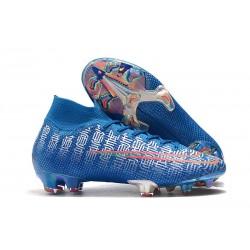 Buty Nike Mercurial Superfly 7 Elite DF FG - Ronaldo Shuai Niebieski