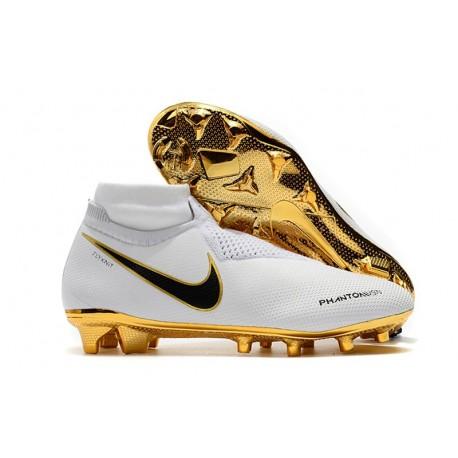 Nike Phantom VSN Elite Dynamic Fit FG Korki Pilkarskie - Biały Złoto