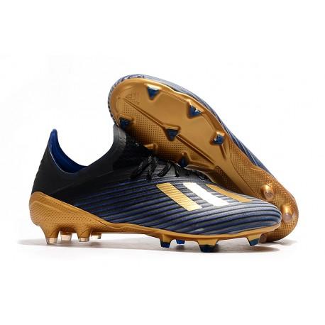 Buty Piłkarskie adidas X 19.1 FG Niebieski Czarny Złoty
