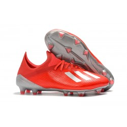 Buty Piłkarskie adidas X 19.1 FG Czerwony Srebro