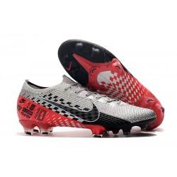 Buty piłkarskie Nike Mercurial Vapor XIII Elite FG NJR Platyna Czarny Czerwony