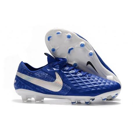Buty Piłkarskie Nike Tiempo Legend VIII FG - Niebieski Biały