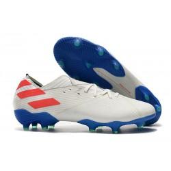 adidas Nemeziz 19.1 FG Buty - Biały Niebieski Czerwony
