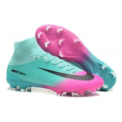Buty Piłkarskie Nike Mercurial Superfly V FG Niebieski Różowy