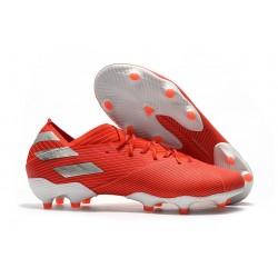adidas Nemeziz 19.1 FG Buty - Czerwony Srebro