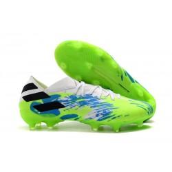 adidas Nemeziz 19.1 FG Buty - Biały Zielony Niebieski