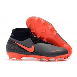 Nike Buty Piłkarskie Phantom Vision DF FG - Czarny Czerwony